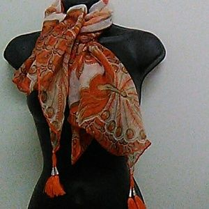 Fall SPECIAL 🍁 Orange and brown scarf